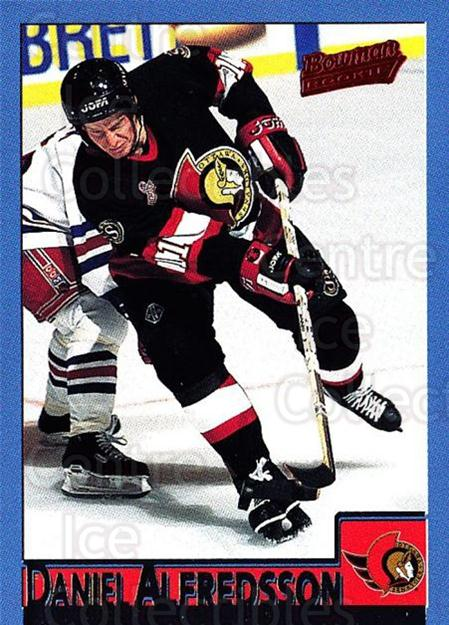 1995-96 Bowman #110 Daniel Alfredsson<br/>4 In Stock - $2.00 each - <a href=https://centericecollectibles.foxycart.com/cart?name=1995-96%20Bowman%20%23110%20Daniel%20Alfredss...&quantity_max=4&price=$2.00&code=288471 class=foxycart> Buy it now! </a>