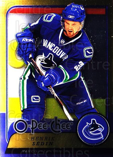 2008-09 O-pee-chee Metal #97 Henrik Sedin<br/>1 In Stock - $2.00 each - <a href=https://centericecollectibles.foxycart.com/cart?name=2008-09%20O-pee-chee%20Metal%20%2397%20Henrik%20Sedin...&quantity_max=1&price=$2.00&code=288580 class=foxycart> Buy it now! </a>