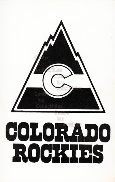 1981-82 Colorado Rockies Postcards #30 Header Card<br/>3 In Stock - $3.00 each - <a href=https://centericecollectibles.foxycart.com/cart?name=1981-82%20Colorado%20Rockies%20Postcards%20%2330%20Header%20Card...&quantity_max=3&price=$3.00&code=28858 class=foxycart> Buy it now! </a>