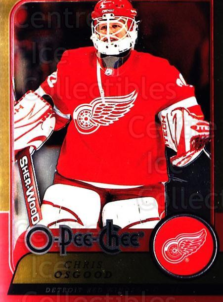 2008-09 O-pee-chee Metal #107 Chris Osgood<br/>1 In Stock - $2.00 each - <a href=https://centericecollectibles.foxycart.com/cart?name=2008-09%20O-pee-chee%20Metal%20%23107%20Chris%20Osgood...&quantity_max=1&price=$2.00&code=288590 class=foxycart> Buy it now! </a>