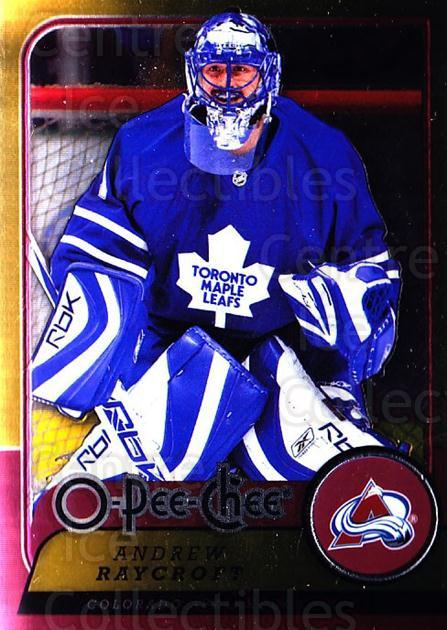 2008-09 O-pee-chee Metal #249 Andrew Raycroft<br/>1 In Stock - $2.00 each - <a href=https://centericecollectibles.foxycart.com/cart?name=2008-09%20O-pee-chee%20Metal%20%23249%20Andrew%20Raycroft...&quantity_max=1&price=$2.00&code=288732 class=foxycart> Buy it now! </a>
