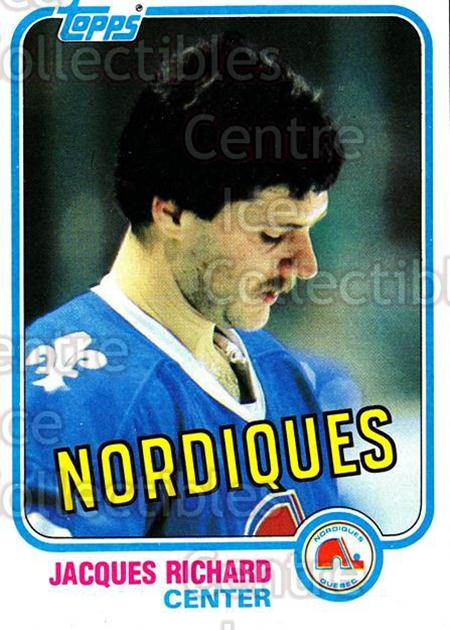 1981-82 Topps #29 Jacques Richard<br/>8 In Stock - $1.00 each - <a href=https://centericecollectibles.foxycart.com/cart?name=1981-82%20Topps%20%2329%20Jacques%20Richard...&quantity_max=8&price=$1.00&code=28900 class=foxycart> Buy it now! </a>