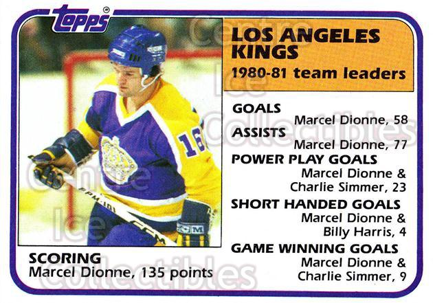 1981-82 Topps #54 Marcel Dionne<br/>5 In Stock - $2.00 each - <a href=https://centericecollectibles.foxycart.com/cart?name=1981-82%20Topps%20%2354%20Marcel%20Dionne...&quantity_max=5&price=$2.00&code=28927 class=foxycart> Buy it now! </a>