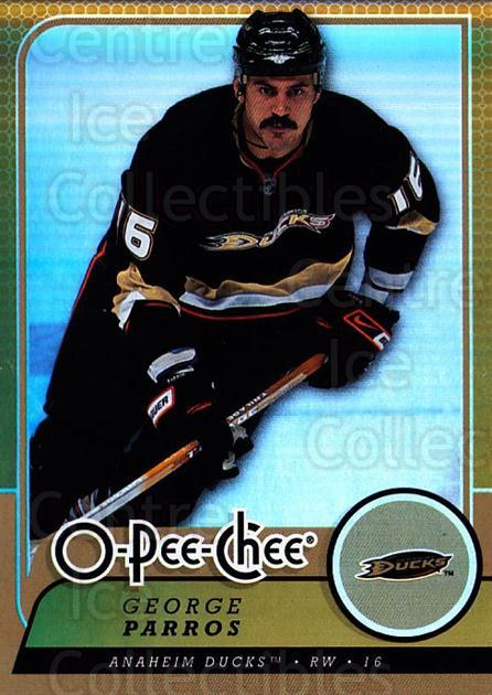 2008-09 O-pee-chee Gold #55 George Parros<br/>2 In Stock - $2.00 each - <a href=https://centericecollectibles.foxycart.com/cart?name=2008-09%20O-pee-chee%20Gold%20%2355%20George%20Parros...&quantity_max=2&price=$2.00&code=290138 class=foxycart> Buy it now! </a>
