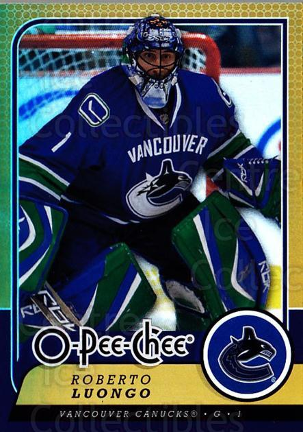 2008-09 O-pee-chee Gold #184 Roberto Luongo<br/>1 In Stock - $2.00 each - <a href=https://centericecollectibles.foxycart.com/cart?name=2008-09%20O-pee-chee%20Gold%20%23184%20Roberto%20Luongo...&quantity_max=1&price=$2.00&code=290267 class=foxycart> Buy it now! </a>