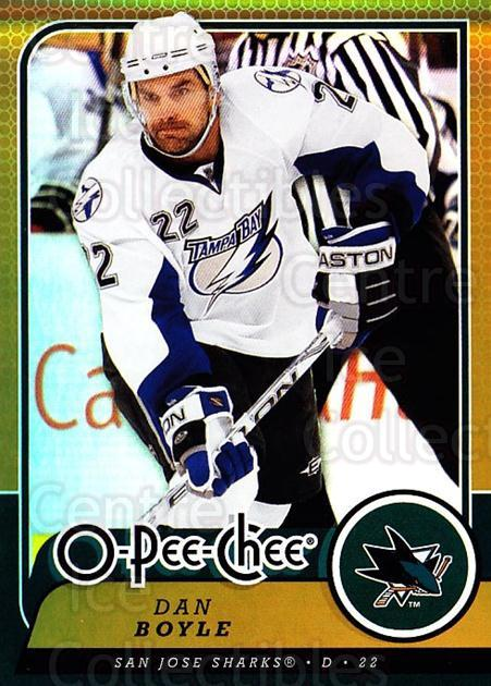 2008-09 O-pee-chee Gold #241 Dan Boyle<br/>2 In Stock - $2.00 each - <a href=https://centericecollectibles.foxycart.com/cart?name=2008-09%20O-pee-chee%20Gold%20%23241%20Dan%20Boyle...&quantity_max=2&price=$2.00&code=290324 class=foxycart> Buy it now! </a>