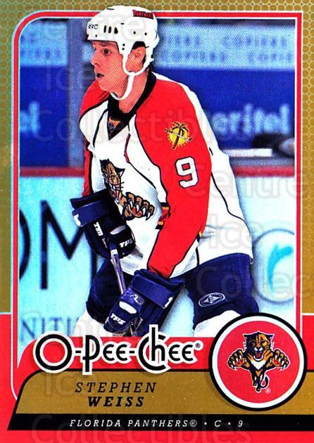 2008-09 O-pee-chee Gold #328 Stephen Weiss<br/>1 In Stock - $2.00 each - <a href=https://centericecollectibles.foxycart.com/cart?name=2008-09%20O-pee-chee%20Gold%20%23328%20Stephen%20Weiss...&quantity_max=1&price=$2.00&code=290411 class=foxycart> Buy it now! </a>