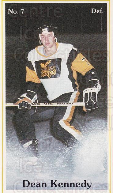 1982-83 Brandon Wheat Kings #3 Dean Kennedy<br/>1 In Stock - $3.00 each - <a href=https://centericecollectibles.foxycart.com/cart?name=1982-83%20Brandon%20Wheat%20Kings%20%233%20Dean%20Kennedy...&quantity_max=1&price=$3.00&code=29046 class=foxycart> Buy it now! </a>