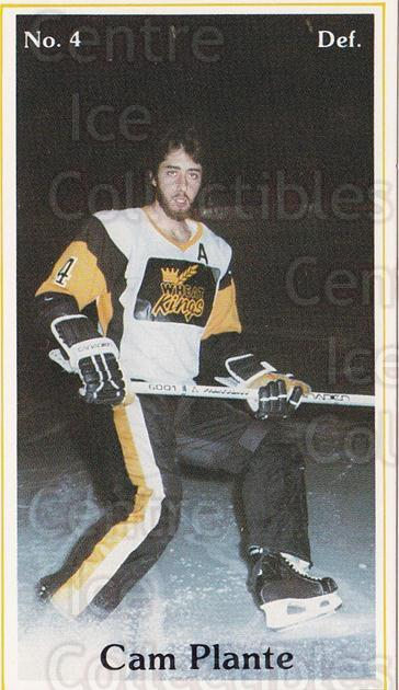 1982-83 Brandon Wheat Kings #6 Cam Plante<br/>2 In Stock - $3.00 each - <a href=https://centericecollectibles.foxycart.com/cart?name=1982-83%20Brandon%20Wheat%20Kings%20%236%20Cam%20Plante...&quantity_max=2&price=$3.00&code=29049 class=foxycart> Buy it now! </a>