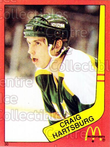 1982-83 McDonalds Stickers #30 Craig Hartsburg<br/>7 In Stock - $2.00 each - <a href=https://centericecollectibles.foxycart.com/cart?name=1982-83%20McDonalds%20Stickers%20%2330%20Craig%20Hartsburg...&quantity_max=7&price=$2.00&code=29177 class=foxycart> Buy it now! </a>