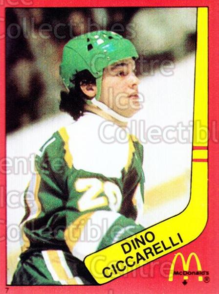 1982-83 McDonalds Stickers #7 Dino Ciccarelli<br/>6 In Stock - $2.00 each - <a href=https://centericecollectibles.foxycart.com/cart?name=1982-83%20McDonalds%20Stickers%20%237%20Dino%20Ciccarelli...&quantity_max=6&price=$2.00&code=29185 class=foxycart> Buy it now! </a>