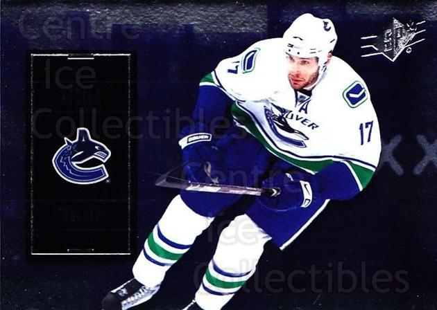 2009-10 Spx #11 Ryan Kesler<br/>4 In Stock - $1.00 each - <a href=https://centericecollectibles.foxycart.com/cart?name=2009-10%20Spx%20%2311%20Ryan%20Kesler...&quantity_max=4&price=$1.00&code=293313 class=foxycart> Buy it now! </a>