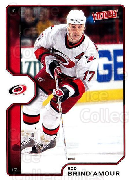 2002-03 UD Victory #39 Rod Brind'Amour<br/>3 In Stock - $1.00 each - <a href=https://centericecollectibles.foxycart.com/cart?name=2002-03%20UD%20Victory%20%2339%20Rod%20Brind'Amour...&quantity_max=3&price=$1.00&code=293411 class=foxycart> Buy it now! </a>