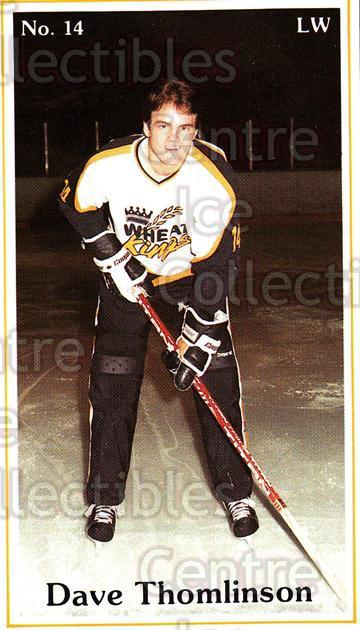 1983-84 Brandon Wheat Kings #10 Dave Thomlinson<br/>3 In Stock - $3.00 each - <a href=https://centericecollectibles.foxycart.com/cart?name=1983-84%20Brandon%20Wheat%20Kings%20%2310%20Dave%20Thomlinson...&quantity_max=3&price=$3.00&code=29342 class=foxycart> Buy it now! </a>