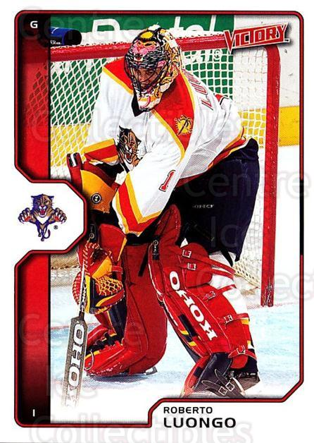 2002-03 UD Victory #90 Roberto Luongo<br/>1 In Stock - $2.00 each - <a href=https://centericecollectibles.foxycart.com/cart?name=2002-03%20UD%20Victory%20%2390%20Roberto%20Luongo...&quantity_max=1&price=$2.00&code=293431 class=foxycart> Buy it now! </a>