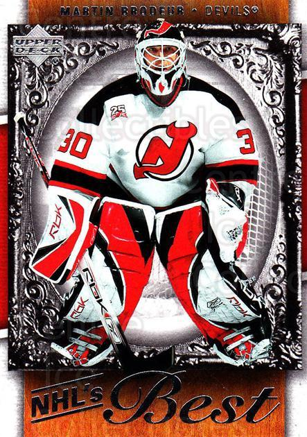 2007-08 Upper Deck NHL's Best #2 Martin Brodeur<br/>3 In Stock - $2.00 each - <a href=https://centericecollectibles.foxycart.com/cart?name=2007-08%20Upper%20Deck%20NHL's%20Best%20%232%20Martin%20Brodeur...&price=$2.00&code=293468 class=foxycart> Buy it now! </a>