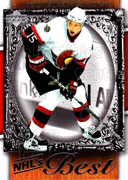 2007-08 Upper Deck NHLs Best #3 Dany Heatley<br/>5 In Stock - $2.00 each - <a href=https://centericecollectibles.foxycart.com/cart?name=2007-08%20Upper%20Deck%20NHLs%20Best%20%233%20Dany%20Heatley...&quantity_max=5&price=$2.00&code=293469 class=foxycart> Buy it now! </a>