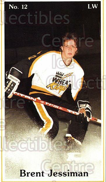 1983-84 Brandon Wheat Kings #14 Brent Jessiman<br/>5 In Stock - $3.00 each - <a href=https://centericecollectibles.foxycart.com/cart?name=1983-84%20Brandon%20Wheat%20Kings%20%2314%20Brent%20Jessiman...&quantity_max=5&price=$3.00&code=29346 class=foxycart> Buy it now! </a>
