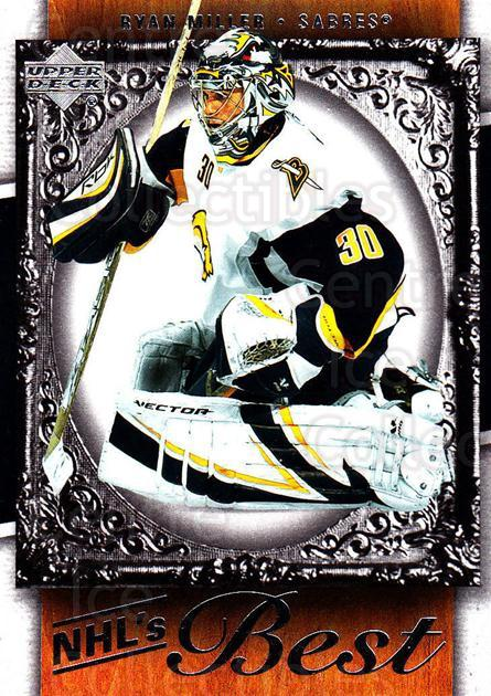 2007-08 Upper Deck NHLs Best #13 Ryan Miller<br/>7 In Stock - $2.00 each - <a href=https://centericecollectibles.foxycart.com/cart?name=2007-08%20Upper%20Deck%20NHLs%20Best%20%2313%20Ryan%20Miller...&quantity_max=7&price=$2.00&code=293479 class=foxycart> Buy it now! </a>