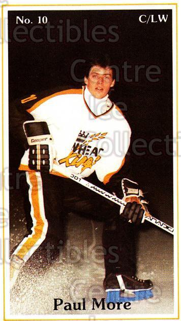 1983-84 Brandon Wheat Kings #15 Paul More<br/>5 In Stock - $3.00 each - <a href=https://centericecollectibles.foxycart.com/cart?name=1983-84%20Brandon%20Wheat%20Kings%20%2315%20Paul%20More...&quantity_max=5&price=$3.00&code=29347 class=foxycart> Buy it now! </a>