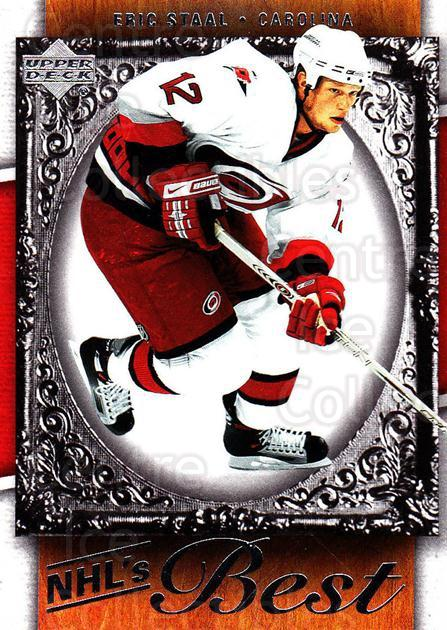 2007-08 Upper Deck NHLs Best #14 Eric Staal<br/>9 In Stock - $2.00 each - <a href=https://centericecollectibles.foxycart.com/cart?name=2007-08%20Upper%20Deck%20NHLs%20Best%20%2314%20Eric%20Staal...&quantity_max=9&price=$2.00&code=293480 class=foxycart> Buy it now! </a>