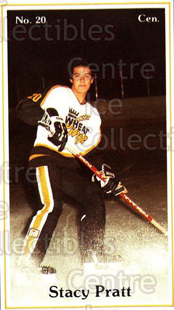 1983-84 Brandon Wheat Kings #16 Stacy Pratt<br/>4 In Stock - $3.00 each - <a href=https://centericecollectibles.foxycart.com/cart?name=1983-84%20Brandon%20Wheat%20Kings%20%2316%20Stacy%20Pratt...&quantity_max=4&price=$3.00&code=29348 class=foxycart> Buy it now! </a>