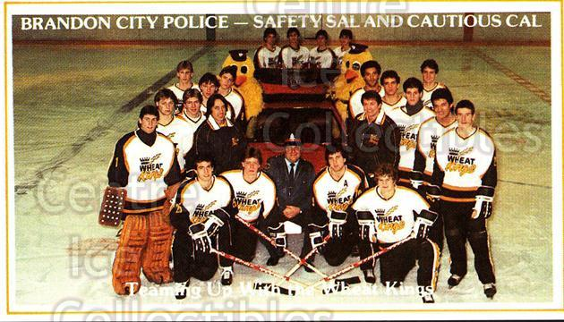 1983-84 Brandon Wheat Kings #17 Team Photo<br/>4 In Stock - $2.00 each - <a href=https://centericecollectibles.foxycart.com/cart?name=1983-84%20Brandon%20Wheat%20Kings%20%2317%20Team%20Photo...&price=$2.00&code=29349 class=foxycart> Buy it now! </a>
