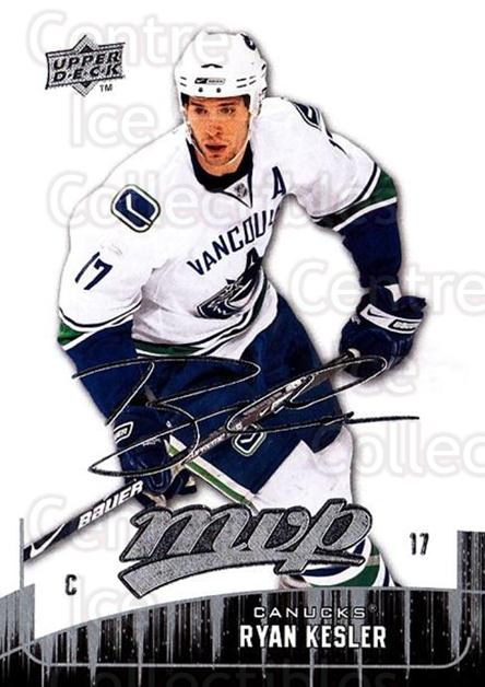 2009-10 Upper Deck MVP #12 Ryan Kesler<br/>5 In Stock - $1.00 each - <a href=https://centericecollectibles.foxycart.com/cart?name=2009-10%20Upper%20Deck%20MVP%20%2312%20Ryan%20Kesler...&quantity_max=5&price=$1.00&code=293509 class=foxycart> Buy it now! </a>