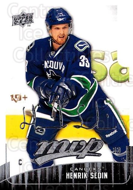 2009-10 Upper Deck MVP #14 Henrik Sedin<br/>5 In Stock - $1.00 each - <a href=https://centericecollectibles.foxycart.com/cart?name=2009-10%20Upper%20Deck%20MVP%20%2314%20Henrik%20Sedin...&quantity_max=5&price=$1.00&code=293511 class=foxycart> Buy it now! </a>