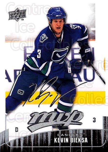 2009-10 Upper Deck MVP #15 Kevin Bieksa<br/>5 In Stock - $1.00 each - <a href=https://centericecollectibles.foxycart.com/cart?name=2009-10%20Upper%20Deck%20MVP%20%2315%20Kevin%20Bieksa...&quantity_max=5&price=$1.00&code=293512 class=foxycart> Buy it now! </a>