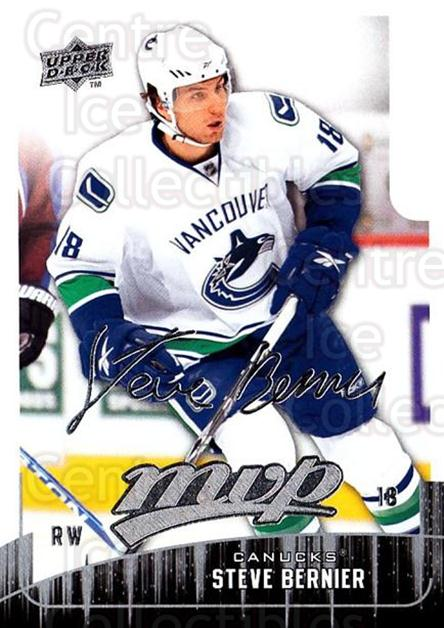 2009-10 Upper Deck MVP #17 Steve Bernier<br/>5 In Stock - $1.00 each - <a href=https://centericecollectibles.foxycart.com/cart?name=2009-10%20Upper%20Deck%20MVP%20%2317%20Steve%20Bernier...&quantity_max=5&price=$1.00&code=293514 class=foxycart> Buy it now! </a>