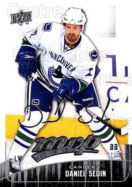 2009-10 Upper Deck MVP #18 Daniel Sedin<br/>5 In Stock - $1.00 each - <a href=https://centericecollectibles.foxycart.com/cart?name=2009-10%20Upper%20Deck%20MVP%20%2318%20Daniel%20Sedin...&quantity_max=5&price=$1.00&code=293515 class=foxycart> Buy it now! </a>