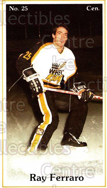 1983-84 Brandon Wheat Kings #20 Ray Ferraro<br/>2 In Stock - $5.00 each - <a href=https://centericecollectibles.foxycart.com/cart?name=1983-84%20Brandon%20Wheat%20Kings%20%2320%20Ray%20Ferraro...&quantity_max=2&price=$5.00&code=29351 class=foxycart> Buy it now! </a>