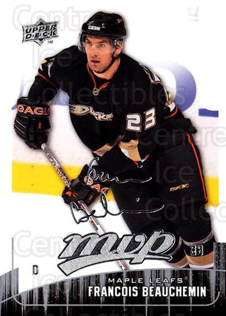 2009-10 Upper Deck MVP #23 Francois Beauchemin<br/>5 In Stock - $1.00 each - <a href=https://centericecollectibles.foxycart.com/cart?name=2009-10%20Upper%20Deck%20MVP%20%2323%20Francois%20Beauch...&quantity_max=5&price=$1.00&code=293520 class=foxycart> Buy it now! </a>