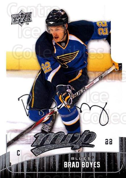 2009-10 Upper Deck MVP #40 Brad Boyes<br/>5 In Stock - $1.00 each - <a href=https://centericecollectibles.foxycart.com/cart?name=2009-10%20Upper%20Deck%20MVP%20%2340%20Brad%20Boyes...&quantity_max=5&price=$1.00&code=293537 class=foxycart> Buy it now! </a>