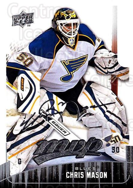 2009-10 Upper Deck MVP #46 Chris Mason<br/>5 In Stock - $1.00 each - <a href=https://centericecollectibles.foxycart.com/cart?name=2009-10%20Upper%20Deck%20MVP%20%2346%20Chris%20Mason...&quantity_max=5&price=$1.00&code=293543 class=foxycart> Buy it now! </a>