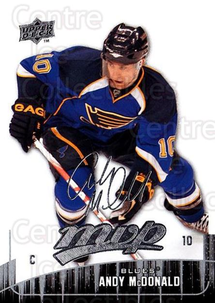 2009-10 Upper Deck MVP #47 Andy McDonald<br/>5 In Stock - $1.00 each - <a href=https://centericecollectibles.foxycart.com/cart?name=2009-10%20Upper%20Deck%20MVP%20%2347%20Andy%20McDonald...&quantity_max=5&price=$1.00&code=293544 class=foxycart> Buy it now! </a>