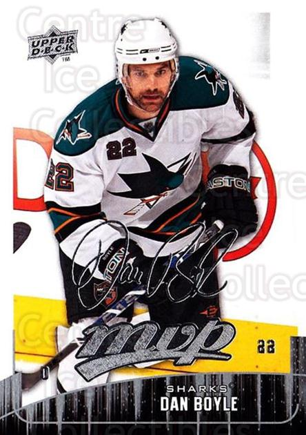 2009-10 Upper Deck MVP #56 Dan Boyle<br/>5 In Stock - $1.00 each - <a href=https://centericecollectibles.foxycart.com/cart?name=2009-10%20Upper%20Deck%20MVP%20%2356%20Dan%20Boyle...&quantity_max=5&price=$1.00&code=293553 class=foxycart> Buy it now! </a>