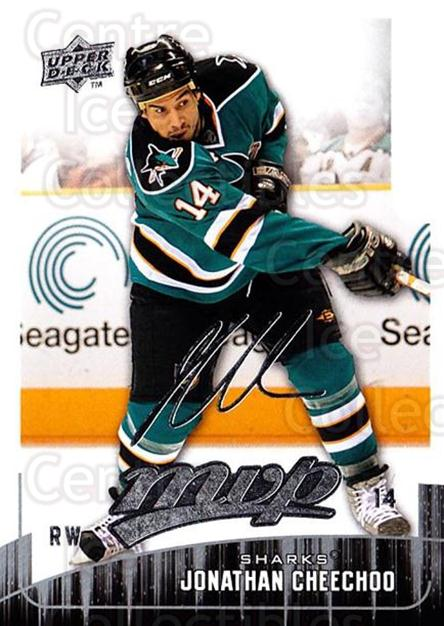 2009-10 Upper Deck MVP #58 Jonathan Cheechoo<br/>4 In Stock - $1.00 each - <a href=https://centericecollectibles.foxycart.com/cart?name=2009-10%20Upper%20Deck%20MVP%20%2358%20Jonathan%20Cheech...&quantity_max=4&price=$1.00&code=293555 class=foxycart> Buy it now! </a>