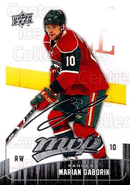 2009-10 Upper Deck MVP #100 Marian Gaborik<br/>5 In Stock - $1.00 each - <a href=https://centericecollectibles.foxycart.com/cart?name=2009-10%20Upper%20Deck%20MVP%20%23100%20Marian%20Gaborik...&quantity_max=5&price=$1.00&code=293597 class=foxycart> Buy it now! </a>