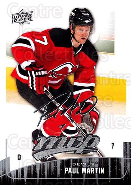 2009-10 Upper Deck MVP #126 Paul Martin<br/>5 In Stock - $1.00 each - <a href=https://centericecollectibles.foxycart.com/cart?name=2009-10%20Upper%20Deck%20MVP%20%23126%20Paul%20Martin...&quantity_max=5&price=$1.00&code=293623 class=foxycart> Buy it now! </a>
