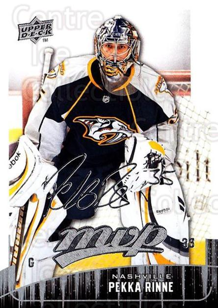 2009-10 Upper Deck MVP #129 Pekka Rinne<br/>5 In Stock - $1.00 each - <a href=https://centericecollectibles.foxycart.com/cart?name=2009-10%20Upper%20Deck%20MVP%20%23129%20Pekka%20Rinne...&quantity_max=5&price=$1.00&code=293626 class=foxycart> Buy it now! </a>