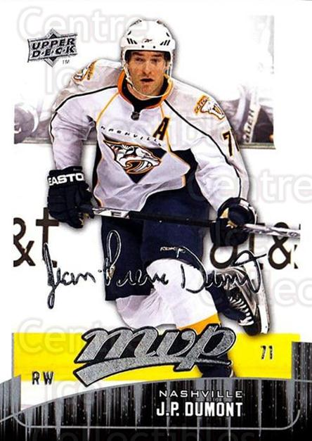 2009-10 Upper Deck MVP #130 JP Dumont<br/>5 In Stock - $1.00 each - <a href=https://centericecollectibles.foxycart.com/cart?name=2009-10%20Upper%20Deck%20MVP%20%23130%20JP%20Dumont...&quantity_max=5&price=$1.00&code=293627 class=foxycart> Buy it now! </a>