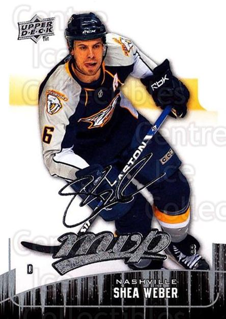 2009-10 Upper Deck MVP #132 Shea Weber<br/>5 In Stock - $1.00 each - <a href=https://centericecollectibles.foxycart.com/cart?name=2009-10%20Upper%20Deck%20MVP%20%23132%20Shea%20Weber...&quantity_max=5&price=$1.00&code=293629 class=foxycart> Buy it now! </a>