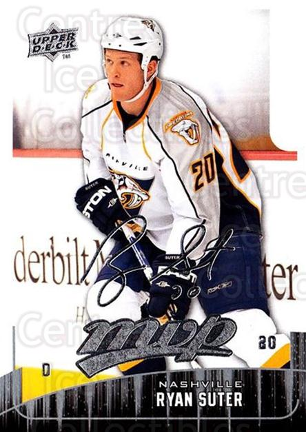2009-10 Upper Deck MVP #134 Ryan Suter<br/>5 In Stock - $1.00 each - <a href=https://centericecollectibles.foxycart.com/cart?name=2009-10%20Upper%20Deck%20MVP%20%23134%20Ryan%20Suter...&quantity_max=5&price=$1.00&code=293631 class=foxycart> Buy it now! </a>