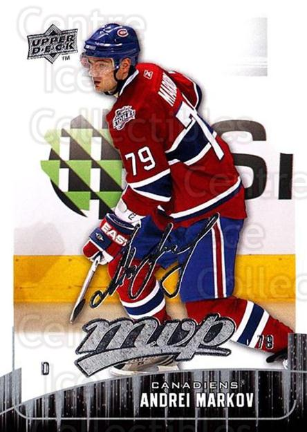 2009-10 Upper Deck MVP #139 Andrei Markov<br/>5 In Stock - $1.00 each - <a href=https://centericecollectibles.foxycart.com/cart?name=2009-10%20Upper%20Deck%20MVP%20%23139%20Andrei%20Markov...&quantity_max=5&price=$1.00&code=293636 class=foxycart> Buy it now! </a>