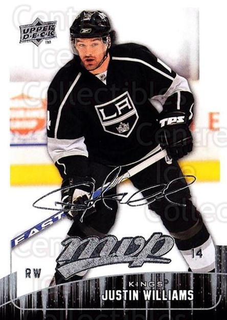2009-10 Upper Deck MVP #167 Justin Williams<br/>4 In Stock - $1.00 each - <a href=https://centericecollectibles.foxycart.com/cart?name=2009-10%20Upper%20Deck%20MVP%20%23167%20Justin%20Williams...&quantity_max=4&price=$1.00&code=293664 class=foxycart> Buy it now! </a>