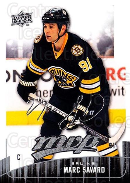 2009-10 Upper Deck MVP #268 Marc Savard<br/>5 In Stock - $1.00 each - <a href=https://centericecollectibles.foxycart.com/cart?name=2009-10%20Upper%20Deck%20MVP%20%23268%20Marc%20Savard...&quantity_max=5&price=$1.00&code=293765 class=foxycart> Buy it now! </a>