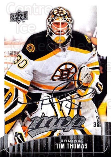 2009-10 Upper Deck MVP #269 Tim Thomas<br/>5 In Stock - $1.00 each - <a href=https://centericecollectibles.foxycart.com/cart?name=2009-10%20Upper%20Deck%20MVP%20%23269%20Tim%20Thomas...&quantity_max=5&price=$1.00&code=293766 class=foxycart> Buy it now! </a>