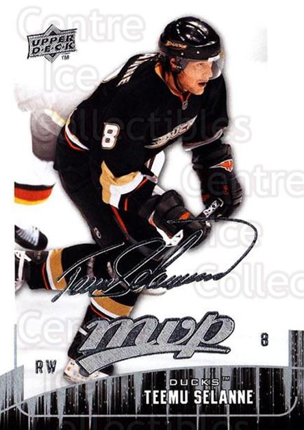 2009-10 Upper Deck MVP #291 Teemu Selanne<br/>5 In Stock - $2.00 each - <a href=https://centericecollectibles.foxycart.com/cart?name=2009-10%20Upper%20Deck%20MVP%20%23291%20Teemu%20Selanne...&quantity_max=5&price=$2.00&code=293788 class=foxycart> Buy it now! </a>